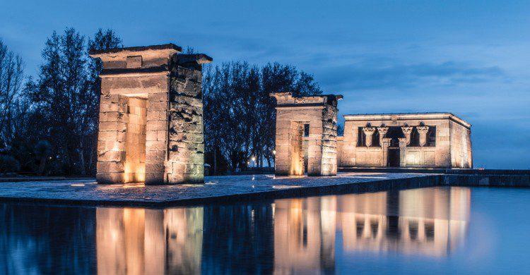 Vistas del Templo de Debod en Madrid