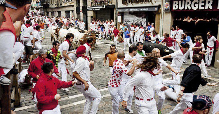 San Fermín, fiestas celebradas en julio en Pamplona (iStock)