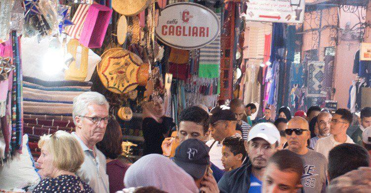 Los mercados en Marruecos son propicios para los timos (Fuente: iStock)