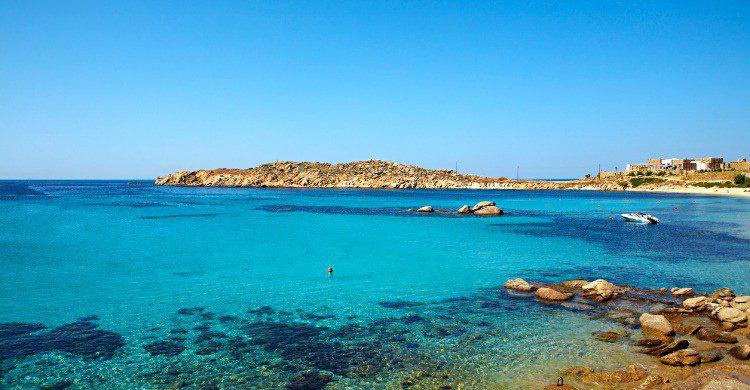 Playa de Paraga en Mykonos, Grecia (Fuente: iStock)
