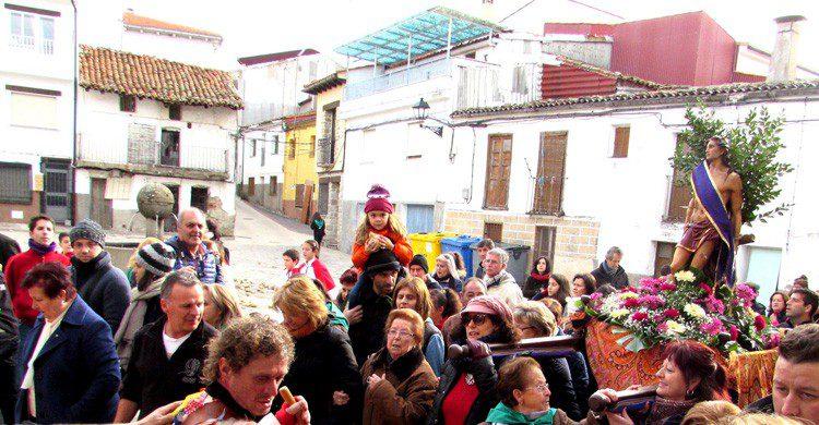 Piornal en el Valle del Jerte (Fuente: Flickr / Biblioteca Virtual Extremadura)