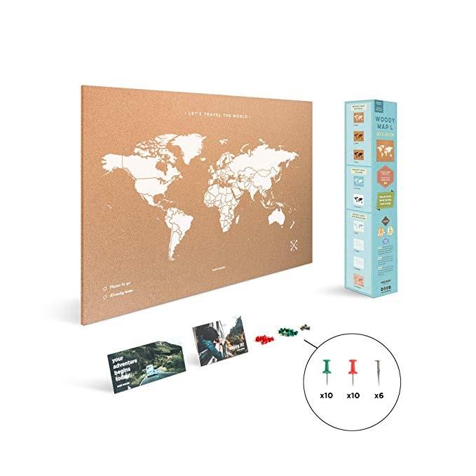 Los Mapas del Mundo de Corcho de Miss Wood son una idea muy original para tener en casa (Amazon)