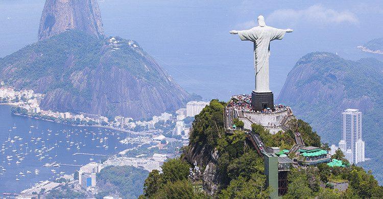 Vista cenital de río de Janeiro(Istock)