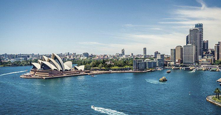 Vista del Puerto de Sídney en Australia(Istock)