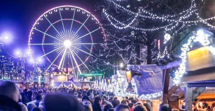 Plaisirs d'hive, mercado de Navidad de Bruselas. Fuente: Brussels Airlines