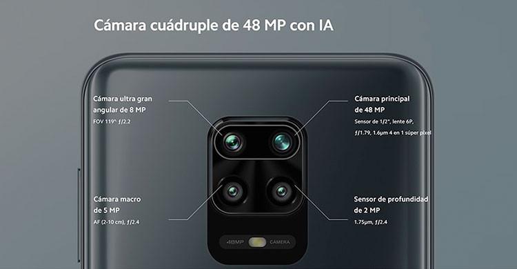La cuádruple cámara trasera es una de las principales características del nuevo smartphone de Xiaomi (es.aliexpress.com)