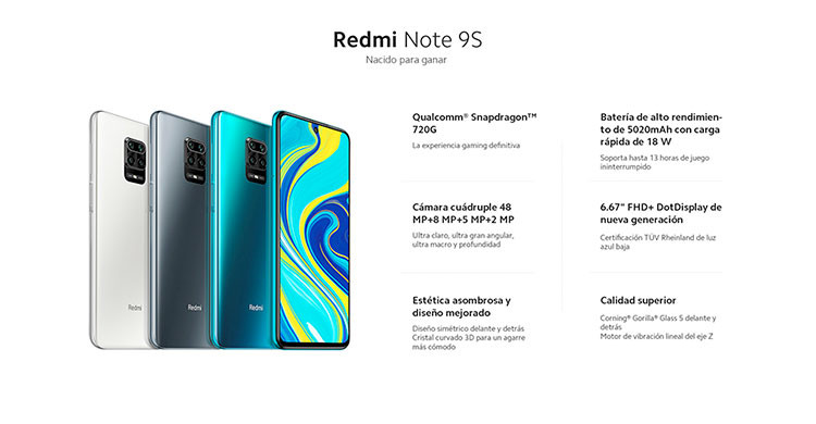 Xiaomi Redmi Note 9S tiene cuádruple cámara trasera (es.aliexpress.com)